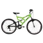 Bicicleta Mormaii Aro 26 Full Suspensão Big Rider 24 Marchas Verde Kawasaki