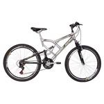 Bicicleta Mormaii Aro 26 Quadro 19 Full Suspension Aço Big Rider 21m Prata