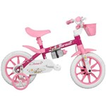 Bicicleta Mormaii Penélope 2019 Aro 12, Branca/rosa