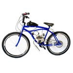 Bicicleta Motorizada Sport 80cc Kit Motor 2 Tempos Cor Azul