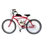 Bicicleta Motorizada Sport 80cc Kit Motor 2 Tempos Cor Cereja
