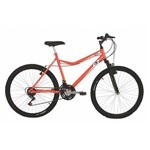 Bicicleta Mountain Bike Mormaii Aro 26 Jaws com Suspensão - Laranja Neon.