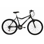 Bicicleta Mountain Bike Mormaii Aro 26 Jaws com Suspensão - Preto Fosco.