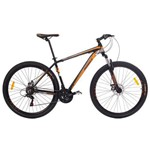 Bicicleta MTB Aro 29 21V Alumínio Quadro 17 Câmbio Shimano Rhino Laranja