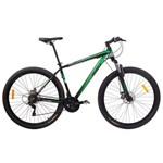 Bicicleta MTB Aro 29 21V Alumínio Quadro 17 Câmbio Shimano Rhino Verde