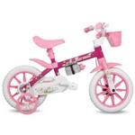 Bicicleta Penélope Mormaii Aro 12 Rosa/Branco