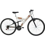 Bicicleta Polimet Kanguru Aro 26 18 Marchas Full Suspension - Branca