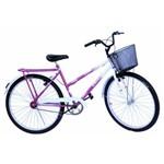 Bicicleta Poti Onix Convencional Pink com Branco