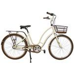 Bicicleta Retrô Vintage Antonella Alumínio Aro 26 Pérola