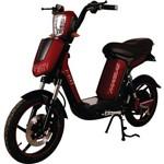 Bicicleta Scooter Elétrico Modelo SMARTY Cor Vermelho Cereja