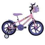 Bicicleta Tina Mini Aro 16 C/ Rodas Rosa Munique - Houston