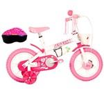 "Bicicleta TK3 Kit Kat com Acessórios Feminino Aro 12"" Rosa"