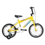 Bicicleta Top Lip Cross Aro 16 Aero Amarelo - Mormaii