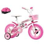Bicicleta Track & Bikes Kitkat, Aro 12, C/ Capacete, Azul/vermelho