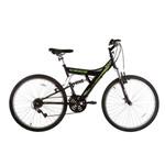 Bicicleta Track & Bikes Tb100, 18 Velocidades, Aro 26, Preto e Verde