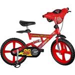 """Bicicleta X-Bike Brinquedos Bandeirante Carros 2 Aro 14"""" Vermelha"""