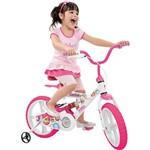 """Bicicleta X-Bike Brinquedos Bandeirante Gatinha Aro 14"""" Rosa"""