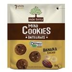Biscoito Mãe Terra Orgânico Integral Banana e Cacau 120g