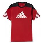 Bizz Store - Camiseta Masculina Adidas Treino Sere 14 Vermelho