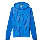 Bizz Store - Jaqueta Infantil Masculina Adidas YB LR Azul