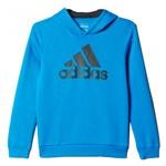Bizz Store - Moletom Infantil Masculino Adidas YB Ess Logo Azul