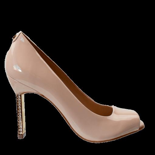 Bizz Store - Sapato Peep Toe Feminino Jorge Bischoff Strass
