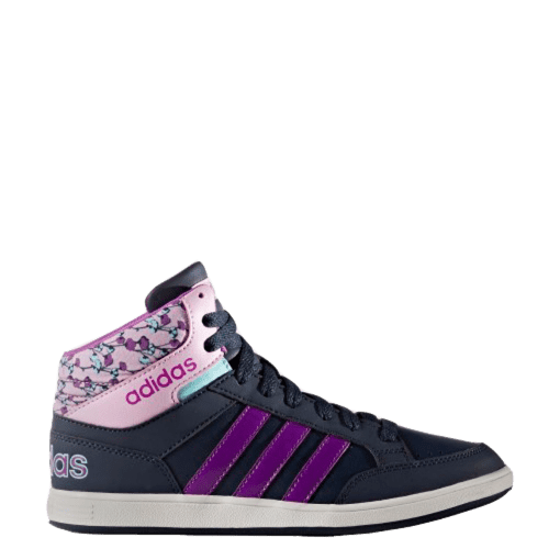Bizz Store - Tênis Infantil Menina Adidas Hoops Mid Cano Médio
