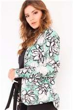Blazer Feminino Alongado Estampa Floral CS0217 - Kam Bess