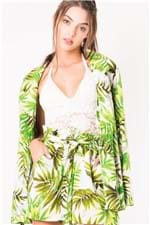Blazer Feminino Linho Estampado CS0241 - Kam Bess