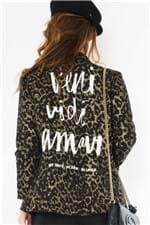 Blazer Feminino Oversized com Lettering CS0214 - Kam Bess