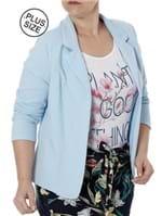 Blazer Plus Size Feminino Autentique Azul
