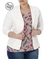 Blazer Plus Size Feminino Autentique Branco