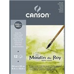Bloco Aquarela Moulin Du Roy 300g/M² G.F A-4 24x32 Cm C/12 Folhas Canson