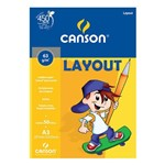 Bloco Canson A3 Branco 50 Folhas Layout