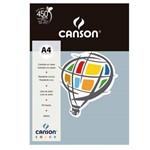 Pacote Canson Color Cinza 180g/M² A4 210 X 297 Mm com 10 Folhas - 66661210