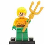 Bloco de Montar Aquaman Clássico Anos 80 Superamigos DC Compatível LEGO