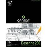 Bloco Desenho Canson Universitaria 200 - 224 G A2 020 Fls Branco 66667043
