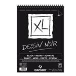 Bloco Desenho Canson Xl Dessin Noir A4 150gr 40fls