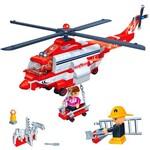 Blocos de Montar Banbao Kit Super Helicóptero Resgate dos Bombeiros - 272 Peças