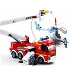 Blocos de Montar Caminhão de Bombeiro e Helicóptero 394 Peças Br824 - Multilaser