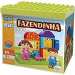 Blocos de Montar Fazendinha Kids 18 Peças Play Cis Lego