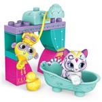 Blocos de Montar - Mega Bloks - Shimmer & Shine - Pets Sparkle e Splash - Fisher-price