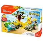 Blocos de Montar - Mega Construx - Playset de Batalha - Pokémon - Pikachu Vs Bulbassauro - Mattel