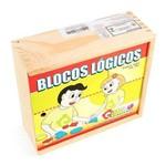 Blocos Logicos 48 Peças - Colorido Carlu Brinquedos