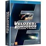 Blu-ray - Velozes e Furiosos - Coleção 7 Filmes (7 Discos)