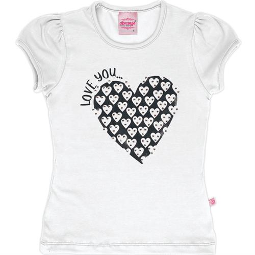 Blusa Abrange Infantil Love You Branco 04