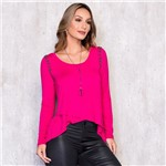 Blusa Alongada Manga Longa com Bordado Manual G