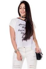 Blusa Ampla com Frente em Chiffon BL3125 - Kam Bess