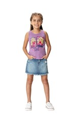 Blusa Barbie® Menina Malwee Kids Lilás - 4