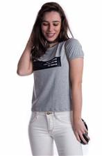Blusa Básica com Aplique em Malha Sintética BL3010 - M